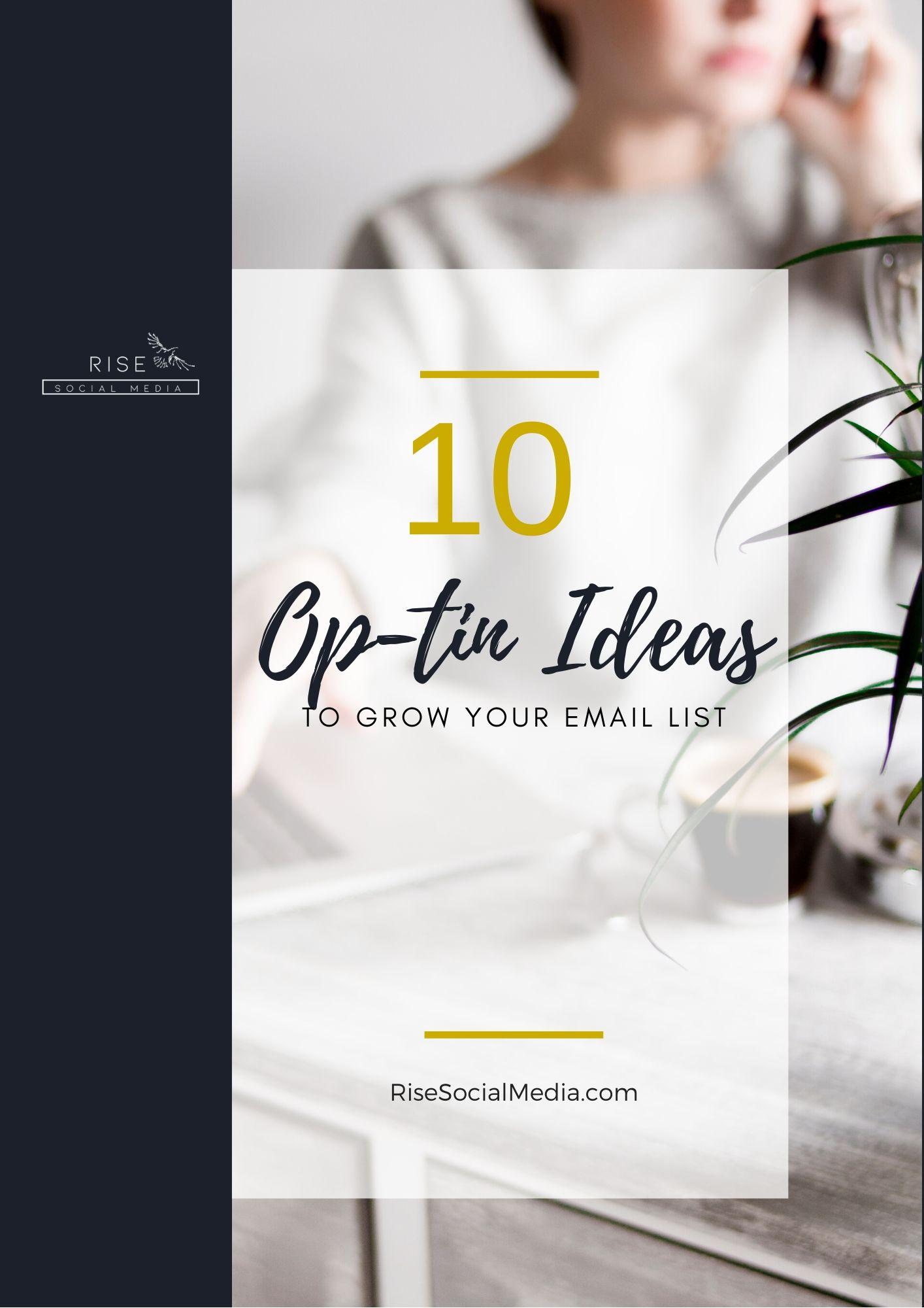 10 Optin Ideas To Build Your List 1