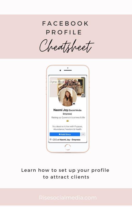 Facebook Profile Marketing Cheatsheet